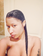 Do It For The Gram! Nicki Minaj Post Naked Shower Selfies