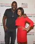 "Idris Elba And Taraji P.Henson At The LA Special Screening Of Screen Gems' ""No Good Deed"""