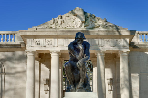 The Thinker Sculpture at The Rodin Museum