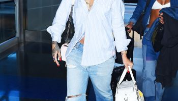 Celebrity Sightings In New York City - July 21, 2015
