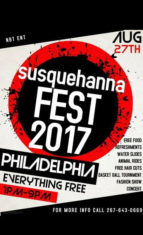 Susquehanna Fest 2017 Flyer