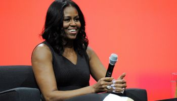 Michelle Obama Makes First Public Appearance After Inauguration At Orlando Conf.