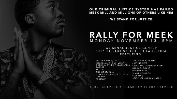 #JusticeForMeek Rally Graphic