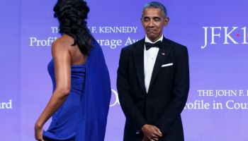 Obama Recieves JFK Profile In Courage Award