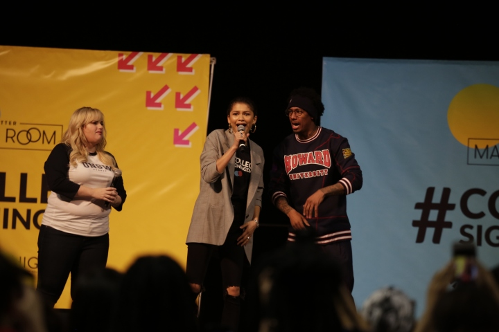Rebel Wilson, Zendaya, and Nick Cannon