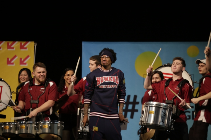 Nick Cannon Was Feeling The Drum Line!