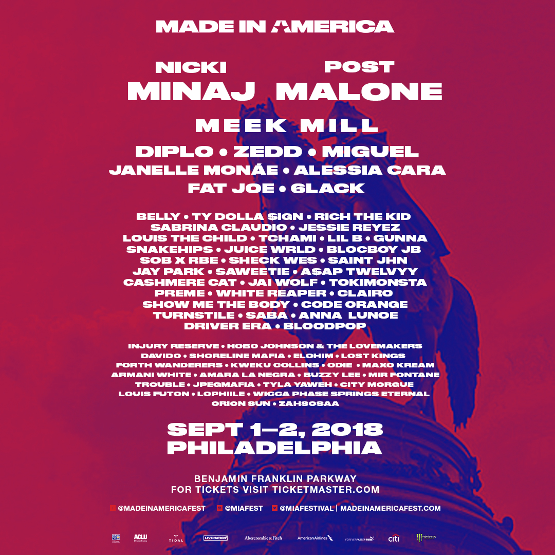 Made in America philly 2018