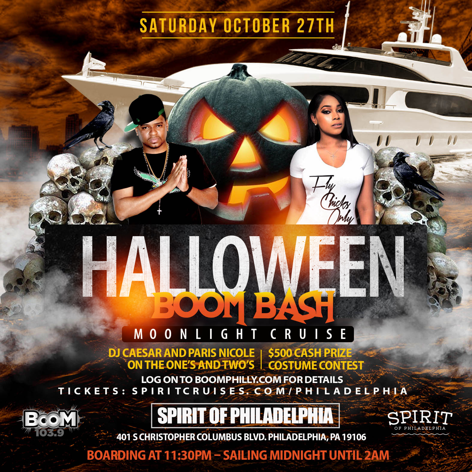Boom Bash Halloween Moonlight Cruise