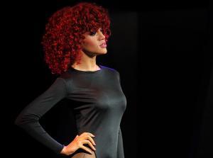A waxwork model of Barbadian R&B singer