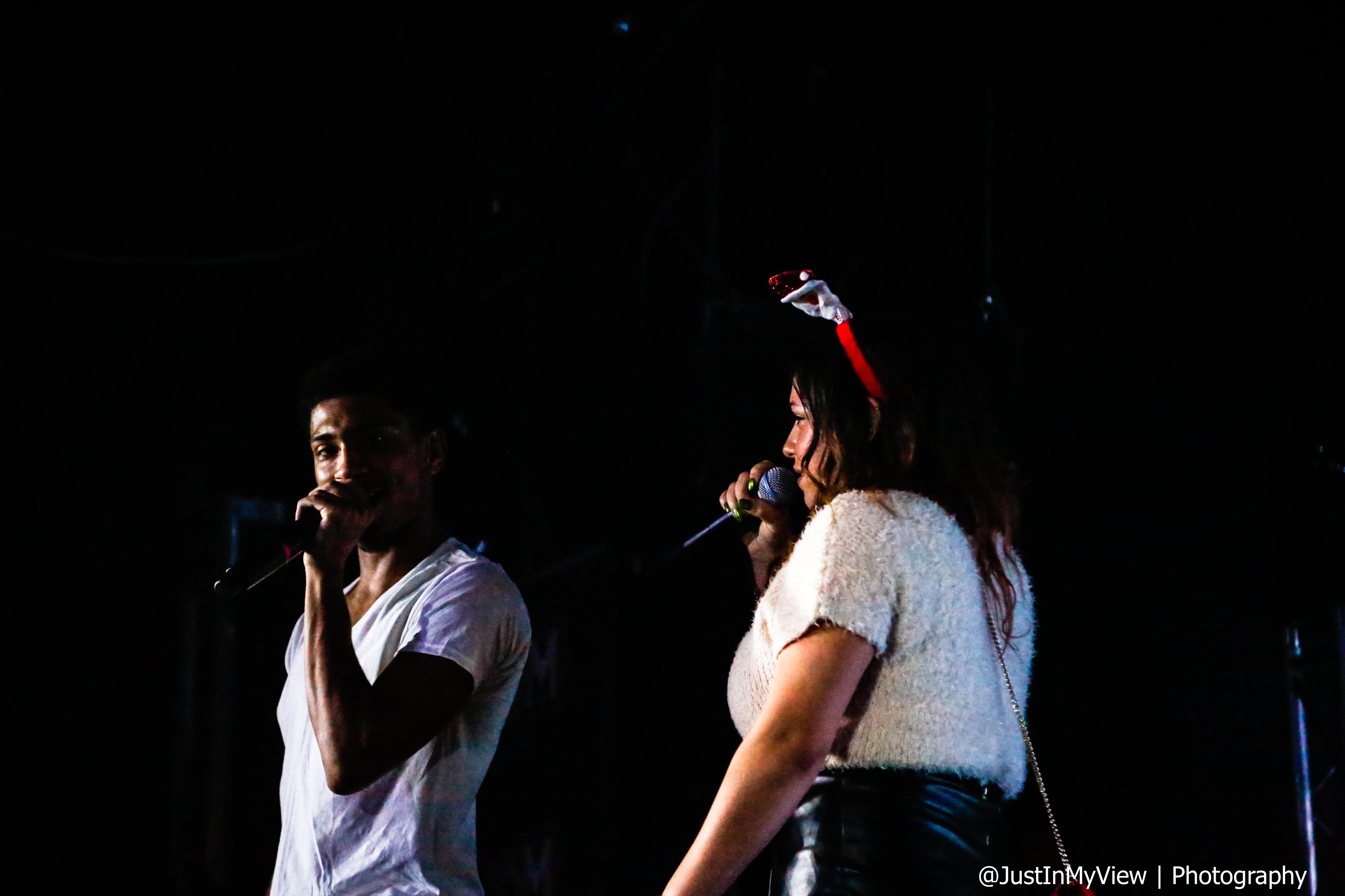 Backstage at Boomin Holidayz