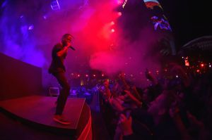 Night One At Palms Casino Resort's KAOS Dayclub & Nightclub With Travis Scott And Skrillex For Grand Opening Weekend
