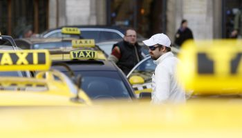 Protest Ride Of Prague Taxi Drivers