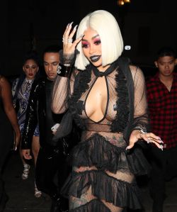Blac Chyna attends a friend's birthday party at Project Club LA