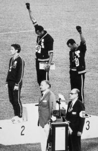 Olympic Atheletes on Podium