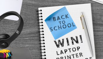 Back to school win laptop printer beats by dre